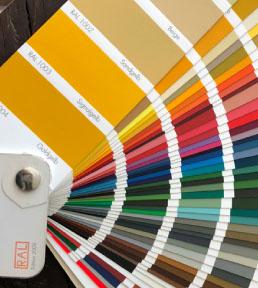 kolory shuttersów, próbnik kolorów palety RAL
