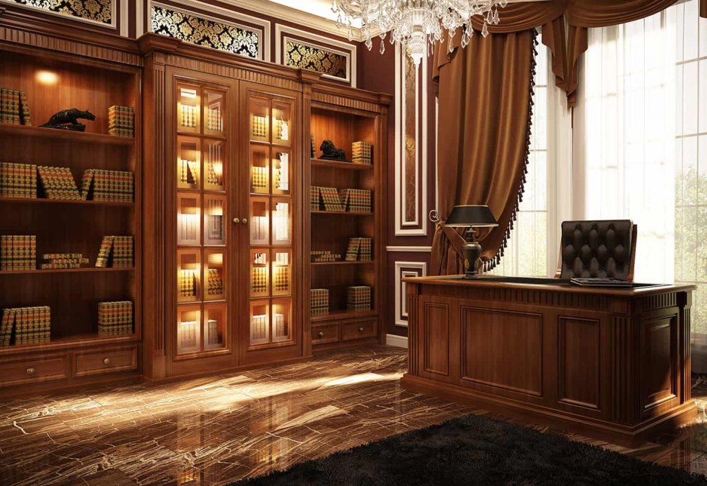 Biuro urządzone w stylu klasycznym